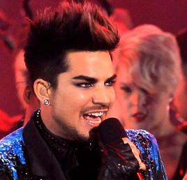 Adam Lambert as host of the VH1 Awards. (AP Photo)