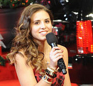 Carly Rose Sonenclar arrives for The X Factor finale. (FOX Photo)