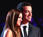 Cassadee Pope with Carson Daly after her performance of Cry on The Voice.