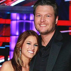 Cassadee Pope with Blake Shelton after winning The Voice. (NBC Photo)