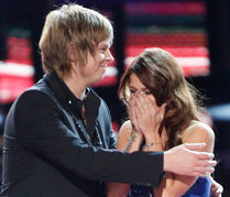 Cassadee Pope reacts to winning The Voice. (NBC Photo)