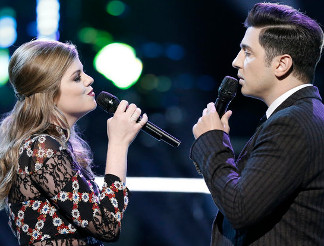Caity Peters and Joe Vivona of The Voice. (NBC Photo)