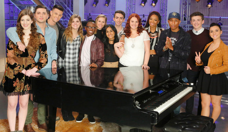 Team Pharrell Season 10 of The Voice. (NBC Photo)