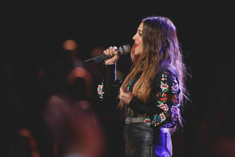 Alisan Porter performs during the live playoffs on The Voice. (NBC Photo)