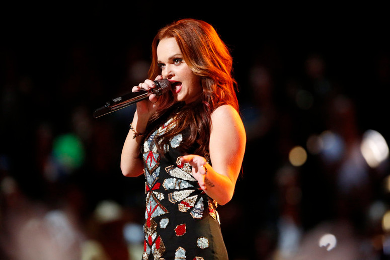 Kata Hay performs during the live playoffs on The Voice. (NBC Photo)