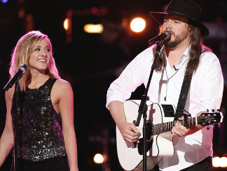 Mary Sarah and Adam Wakefield of The Voice Season 10. (NBC Photo)