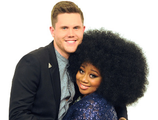 Trent Harmon and La'Porsha Renae of American Idol. (FOX Photo)