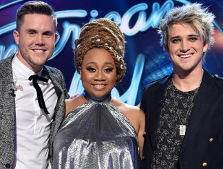 Trent Harmon, La'Porsha Renae and Dalton Rapattoni of American Idol (FOX Photo)