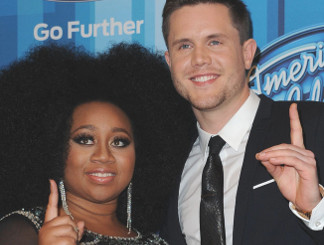 La'Porsha Renae and Trent Harmon on the American Idol red carpet. (FOX Photo)
