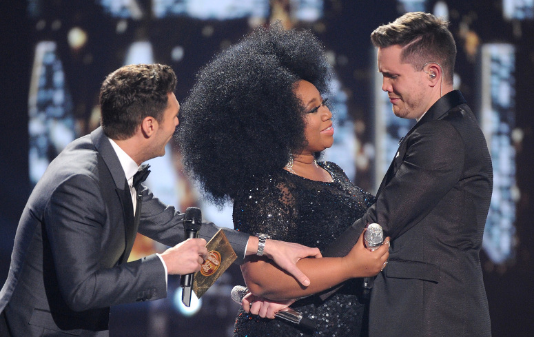Trent Harmon reacts to his victory on American Idol. (FOX Photo)
