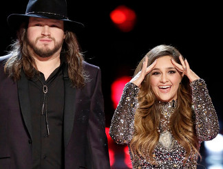Adam Wakefield and Alisan Porter on The Voice.