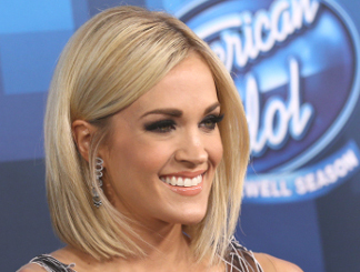 Carrie Underwood at the American Idol finale.