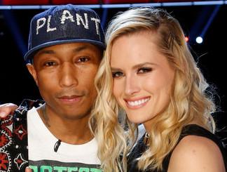 Pharrell Williams and Hannah Huston of The Voice Season 10