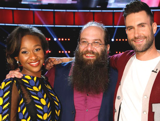 Shalyah Fearing and Laith Al-Saadi with Adam Levine on The Voice