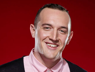 Aaron Gibson of The Voice Season 11. (NBC Photo)