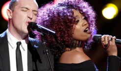 Aaron Gibson and Sa'Rayah from The Voice Season 11 (NBC Photo)