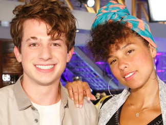 Alicia Keys with battle round adviser Charlie Puth (NBC Photo)