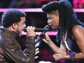 Ethan Tucker and Courtney Harrell of The Voice Season 11 (NBC Photo)
