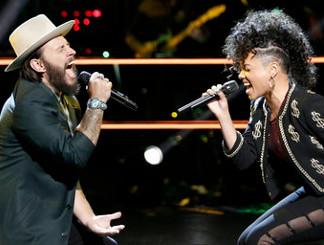 Lane Mack and Sophia Urista of The Voice Season 11 (NBC Photo)