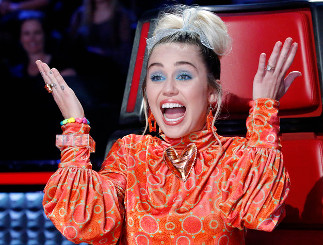 Miley Cyrus on The Voice. (NBC Photo)