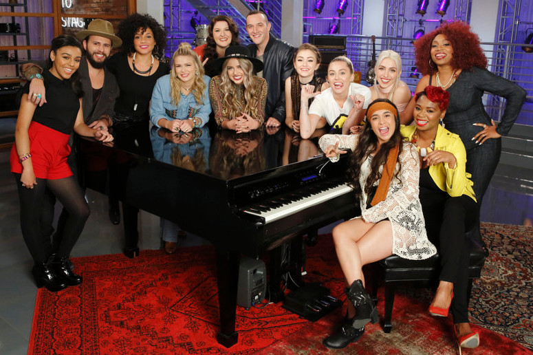 Team Miley on The Voice Season 11 (NBC Photo)