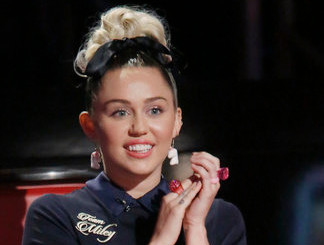 Miley Cyrus, coach on The Voice (NBC Photo)