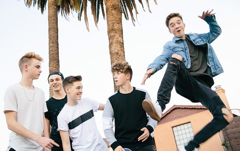 Daniel Seavey (right) from American Idol has joined a five-member group called Why Don't We.