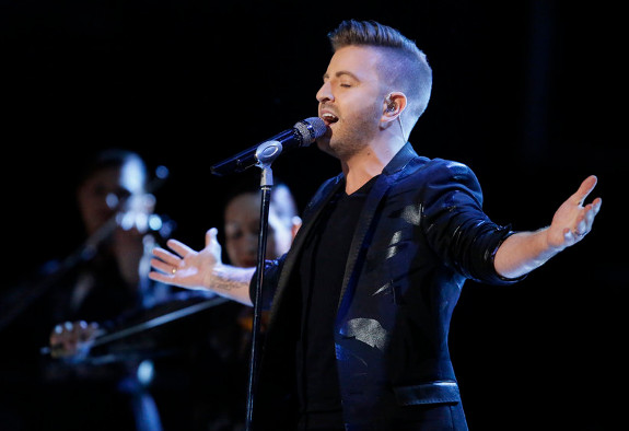 Billy Gilman performs on The Voice Season 11. (NBC Photo)