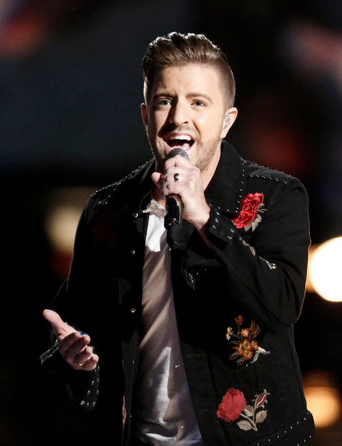 Billy Gilman's performs during last week's semifinals on The Voice. (NBC Photo)
