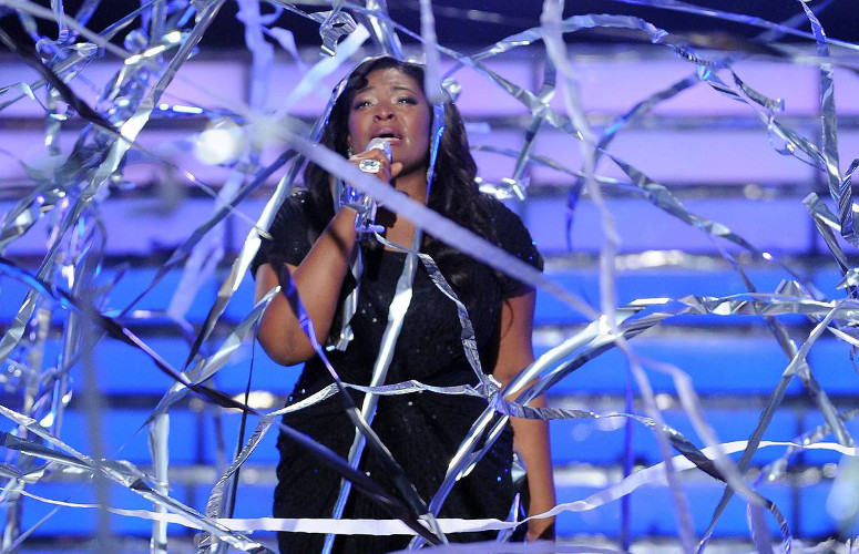 Candice Glover performs after being named Season 12 winner of American Idol. (FOX Photo)