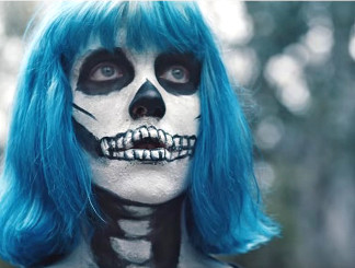 "Joey Cook of American Idol Season 14 in her video for ""Bones."""