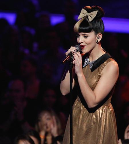 Melanie Martinez performs during Season 3 of The Voice. (NBC Photo)