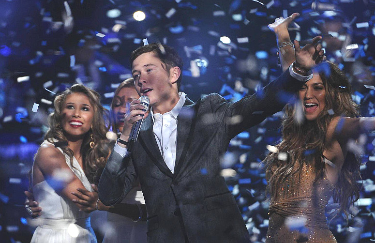 Scotty McCreery sings after being named the winner of American Idol Season 10. (FOX Photo)