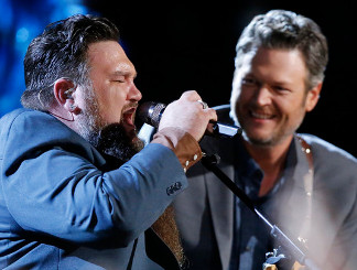 Sundance Head and Blake Shelton on The Voice. (NBC Photo)