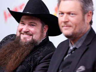 Sundance Head and coach Blake Shelton after winning The Voice Season 11 (NBC Photo)