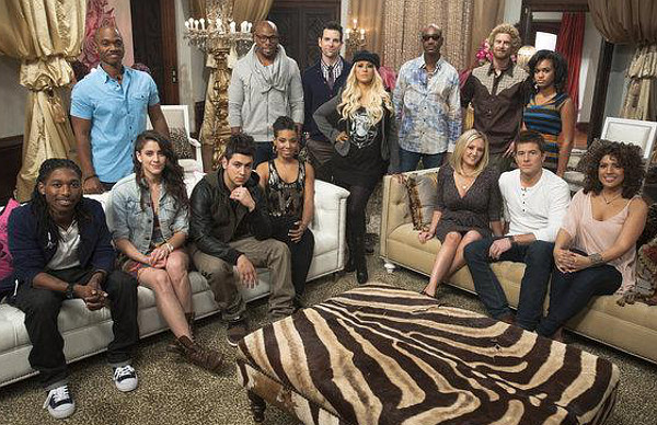 Team Christina Aguilera members on Season 2 of The Voice included (seated from left) Moses Stone, Lindsey Pavao, Jonathas, Sera Hill, Hailey Steele and Leland Grant of The Line, Monique Benabou; (back row, from left) Jesse Campbell, Anthony Evans, Chris Mann, Christina Aguilera, Geoff McBride, Lee Koch, Ashley De La Rosa. (NBC Photo)