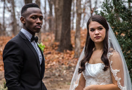 Brian Nhira from Season 10 of The Voice with his video bride in Will You Still Love Me
