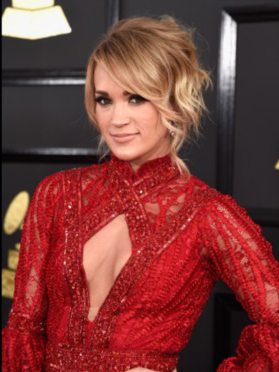 Carrie Underwood at the 2017 Grammy Awards.