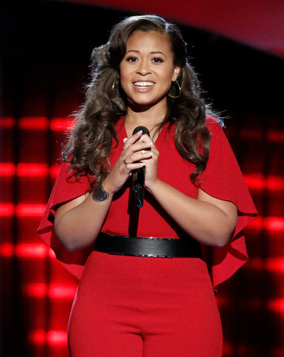 Felicia Temple turned three chairs on The Voice and got to sing with an idol, Alicia Keys. (NBC Photo)