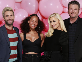 Season 12 Voice coaches Adam Levine, Alicia Keys, Gwen Stefani and Blake Shelton (NBC Photo)
