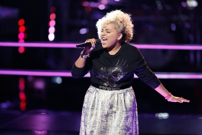 Aaliyah Rose performs during the battle round on The Voice Season 12 (NBC Photo)