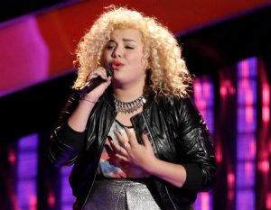 Aaliyah Rose is the youngest female contestant on Season 12 of The Voice. (NBC Photo)