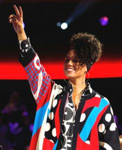 Alicia Keys has a good reason to be smiling heading into the battle round on Season 12 of The Voice (NBC Photo)