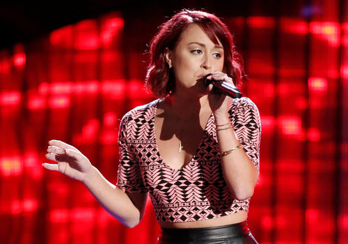Casi Joy turned four chairs during the Season 12 blind auditions for The Voice. (NBC Photo)