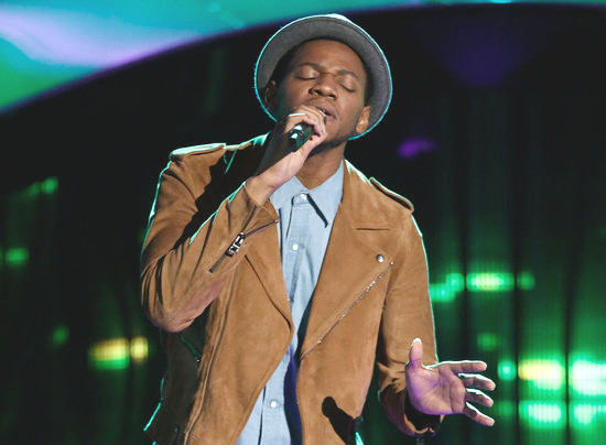 Chris Blue performs during his blind audition on The Voice. (NBC Photo)