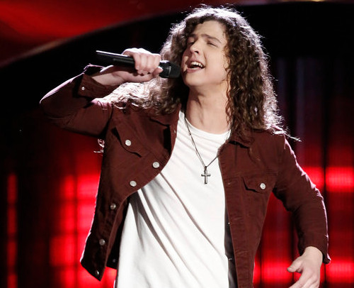 Young rocker Josh West turned four chairs on Season 12 of The Voice. (NBC Photo)