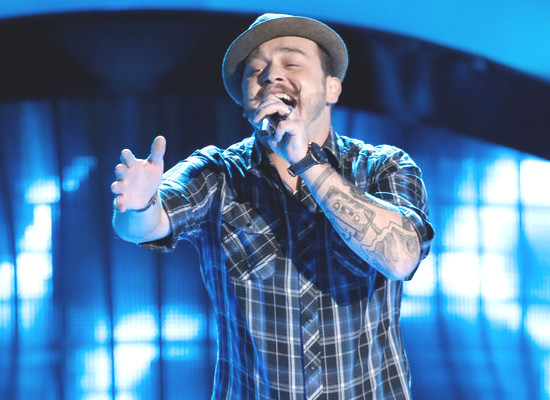 Kenny P was one of 11 singers to earn a spot on The Voice during Monday night's Season 12 blind audition show. (NBC Photo)
