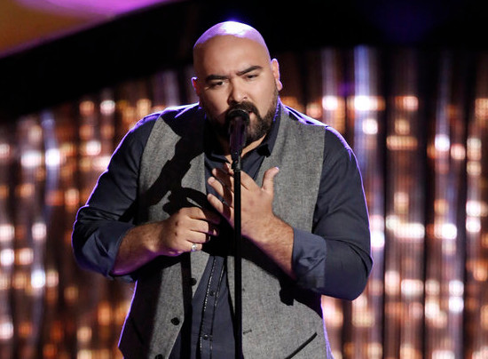 Troy Ramey performs during the blind auditions on The Voice Season 12. (NBC Photo)