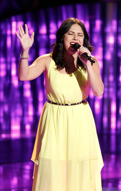 Valerie Ponzio turned four chairs with her blind audition on Season 12 of The Voice. (NBC Photo)