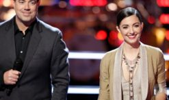 Carson Daly and Lilli Passero on The Voice Season 12 (NBC Photo)